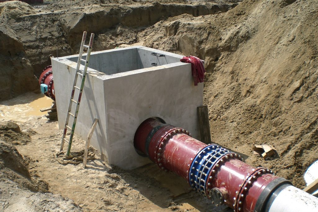 ADL DN 700 GGG Umverlegung BER in Selchow